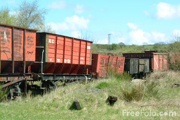 Picture of Old Wagons, Marley Hill - Free Pictures - FreeFoto.com