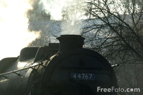 Picture of LMS 5MT 4-6-0 44767 George Stephenson at Grosmont - Free Pictures - FreeFoto.com