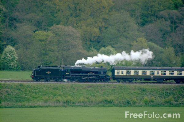 Picture of LMS 5MT 4-6-0 44767 George Stephenson near Grosmont - Free Pictures - FreeFoto.com