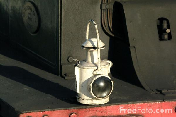 Picture of Railway Locomotive Oil Lamp - Free Pictures - FreeFoto.com