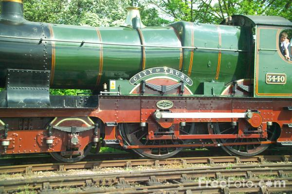 Picture of GWR 3440 City of Truro, Gloucestershire Warwickshire Railway - Free Pictures - FreeFoto.com