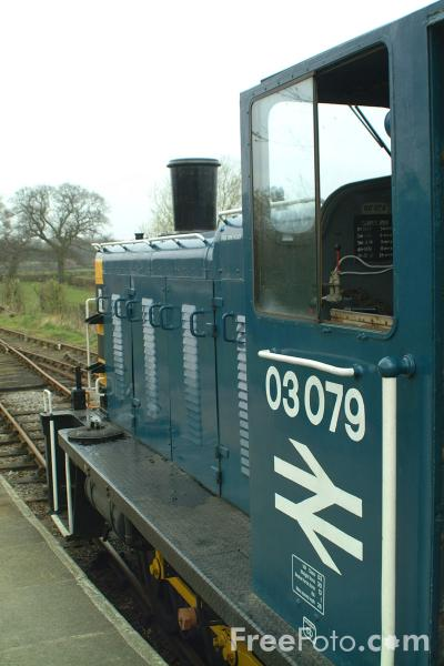 Picture of BR Class 03 Drewry 0-6-0DM Shunter 03079, Derwent Valley Light Railway - Free Pictures - FreeFoto.com