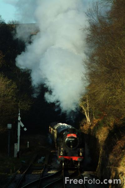 Picture of British Railways standard class 4MT 80135 - Free Pictures - FreeFoto.com
