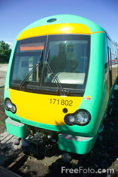 Picture of Southern class 171 Turbostar DMU number 171802 at RailFest 2004 - Free Pictures - FreeFoto.com
