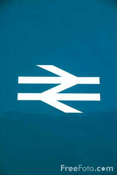 Picture of Double arrow British Rail logo - Free Pictures - FreeFoto.com