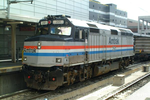 Picture of Amtrak Locomotive, Boston South Station - Free Pictures - FreeFoto.com