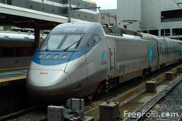 Picture of Acela, Boston South Station - Free Pictures - FreeFoto.com