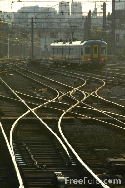 Picture of Tracks, Gare du Midi, Brussels, Belgium - Free Pictures - FreeFoto.com