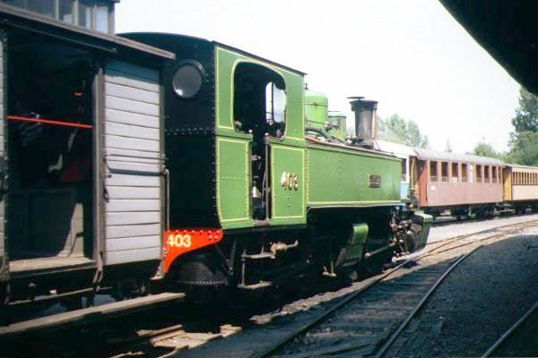 Picture of Mallett 030+030 Steam Locomotive Number 403 stands at Lamastre station - Free Pictures - FreeFoto.com