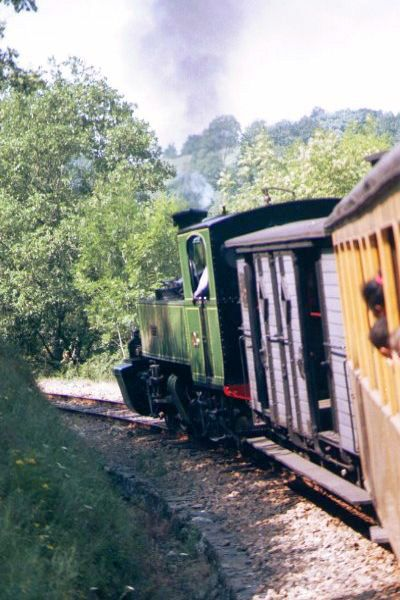 Picture of Mallett 030+030 Steam Locomotive Number 403 leans into a tight bend - Free Pictures - FreeFoto.com