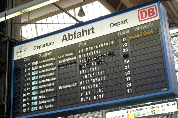 Picture of Departure Board, Munich - Free Pictures - FreeFoto.com