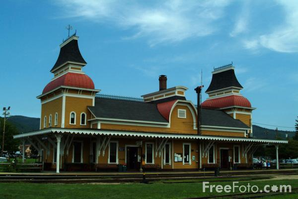 Picture of Historic North Conway Station - Free Pictures - FreeFoto.com