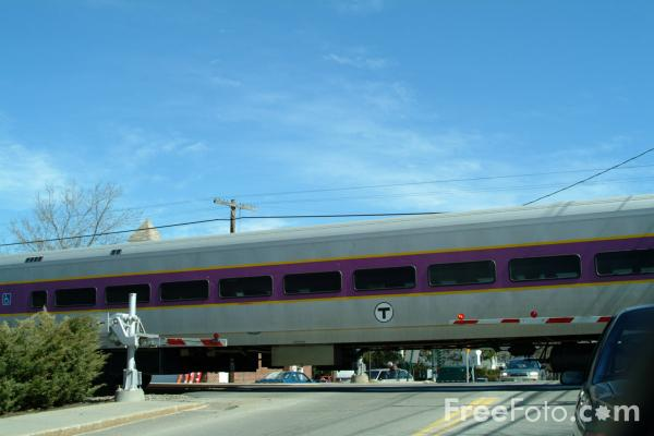 Picture of MBTA railroad service at Concord - Free Pictures - FreeFoto.com
