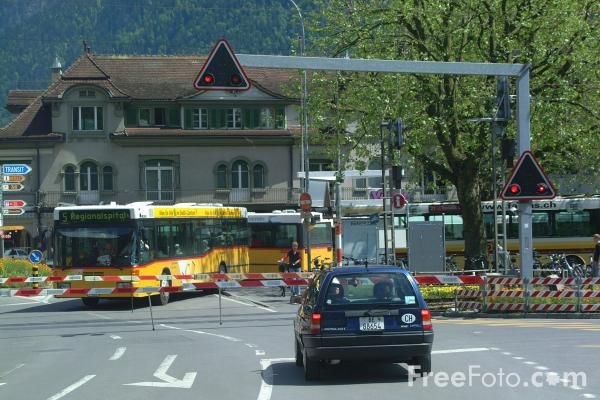 Picture of Level Crossing, Interlaken, Switzerland - Free Pictures - FreeFoto.com