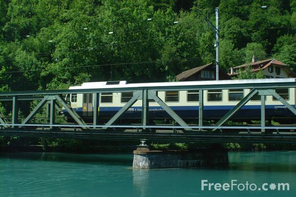 Picture of Swiss Train, Interlaken, Switzerland - Free Pictures - FreeFoto.com