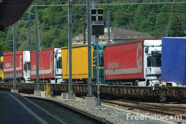 Picture of Intermodal Freight Service, Brig, Switzerland - Free Pictures - FreeFoto.com