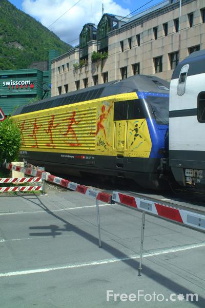 Picture of SBB CFF FFS Train, Interlaken, Switzerland - Free Pictures - FreeFoto.com