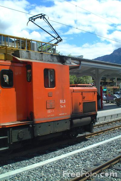 Picture of Freight Train, Interlaken, Switzerland - Free Pictures - FreeFoto.com