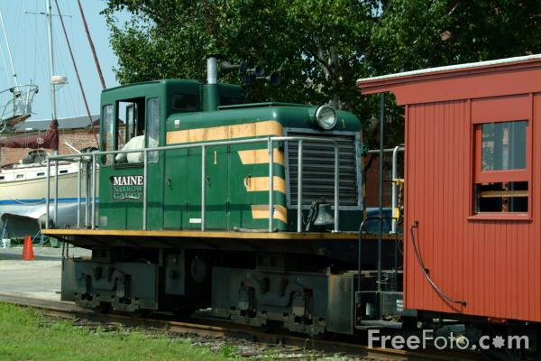 Picture of The Maine Narrow Gauge Railroad, Portland, Maine - Free Pictures - FreeFoto.com