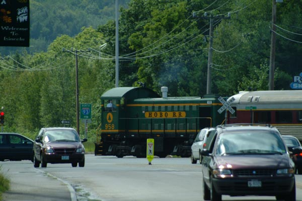 Picture of Hobo Railroad Alco switcher 958, Lincoln, New Hampshire - Free Pictures - FreeFoto.com