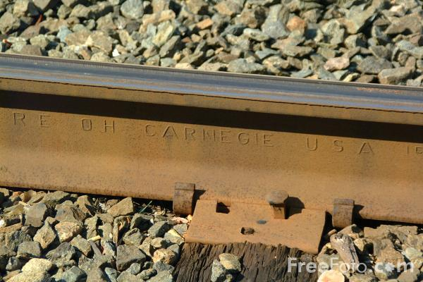Picture of USA Railroad Track - Free Pictures - FreeFoto.com