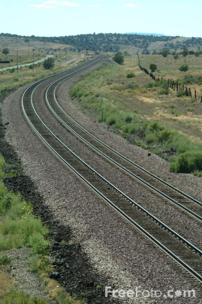 Picture of Railroad track, Near Seligman, Arizona, USA - Free Pictures - FreeFoto.com