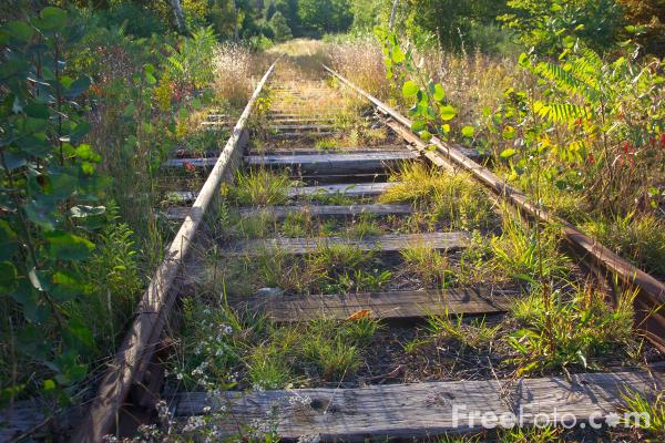 Picture of Disused Railroad Track - Free Pictures - FreeFoto.com