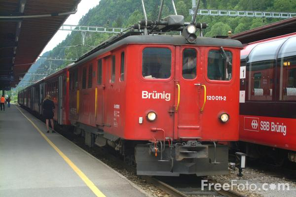 Picture of SBB Brunig Railway - Free Pictures - FreeFoto.com