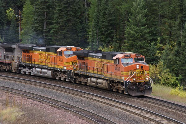 Picture of BNSF 4638 and 4054 C44-9W - Free Pictures - FreeFoto.com