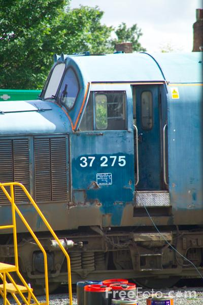 Picture of Class 37 37 275, Wensleydale Railway - Free Pictures - FreeFoto.com