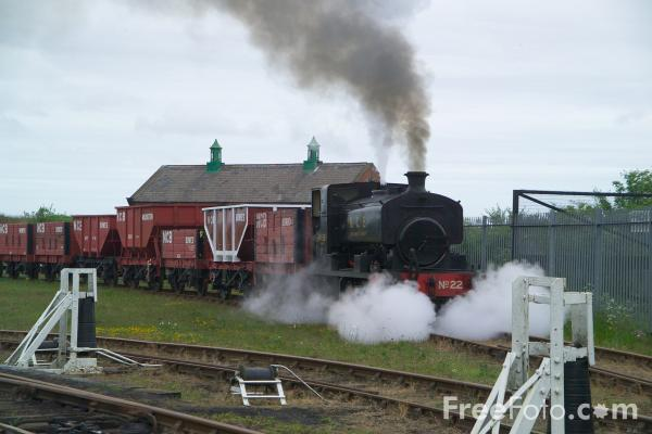 Picture of 0-4-0 saddle tank Andrew Barclay No 22 of 1949, The Bowes Railway - Free Pictures - FreeFoto.com