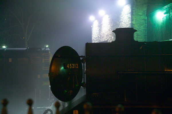 Picture of Haworth engine shed at night - Free Pictures - FreeFoto.com
