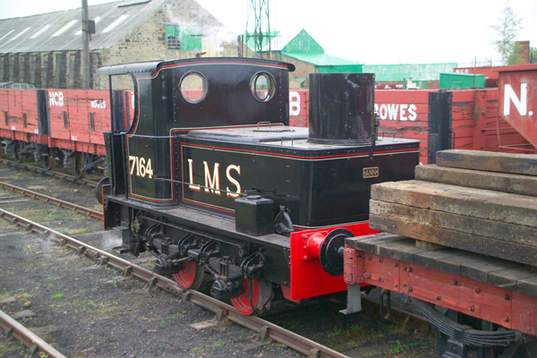 Picture of LMS Sentinel shunter 7164, The Bowes Railway - Free Pictures - FreeFoto.com