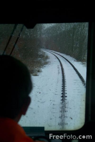 Picture of Wensleydale Railway under Snow - Free Pictures - FreeFoto.com