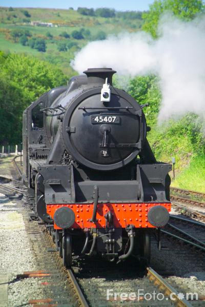 Picture of LMS Black 5 4-6-0 45407 - Free Pictures - FreeFoto.com
