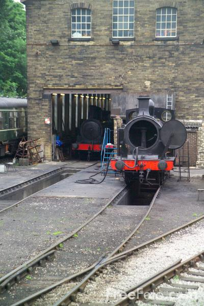 Picture of The yard and sheds at Haworth - Free Pictures - FreeFoto.com