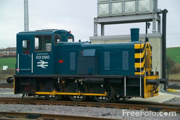 Picture of Class 03 03090 in BR blue livery, Locomotion, The National Railway Museum, Shildon - Free Pictures - FreeFoto.com