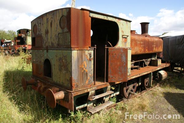 Picture of Old Steam Engine at The Tanfield Railway - Free Pictures - FreeFoto.com
