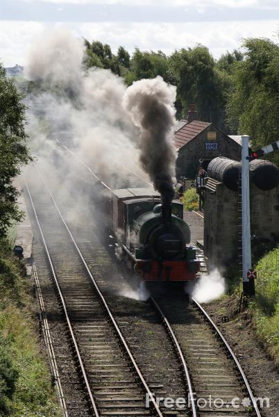 Picture of RSH No 49 0-6-0ST on the Tanfield Railway - Free Pictures - FreeFoto.com