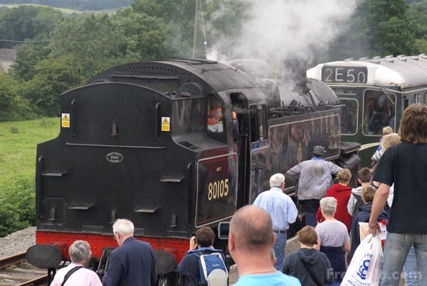 Picture of British Railways 2-6-4T 80105 at Redmire - Free Pictures - FreeFoto.com
