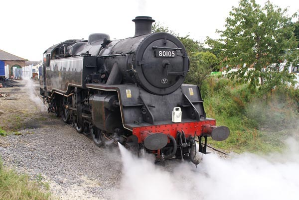 Picture of British Railways 2-6-4T 80105 at Leeming Bar - Free Pictures - FreeFoto.com