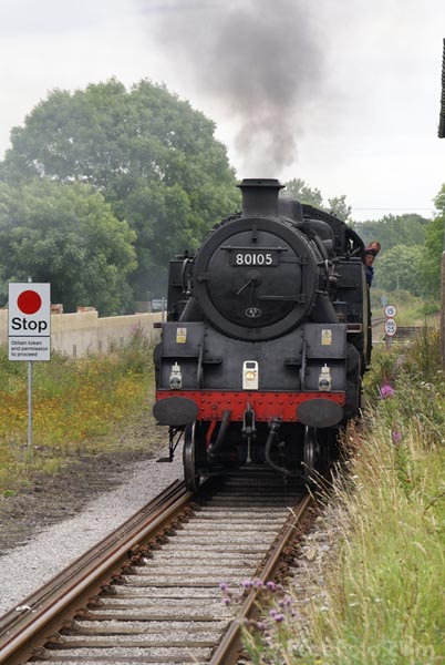 Picture of British Railways 2-6-4T 80105 at Leyburn - Free Pictures - FreeFoto.com