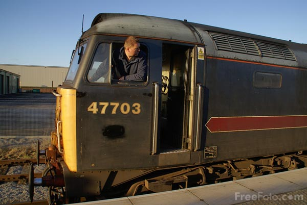 Picture of Class 47 47703 on the Wensleydale Railway - Free Pictures - FreeFoto.com