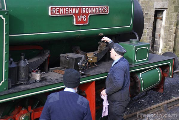 Picture of 0-6-0ST Renishaw on the Tanfield Railway - Free Pictures - FreeFoto.com