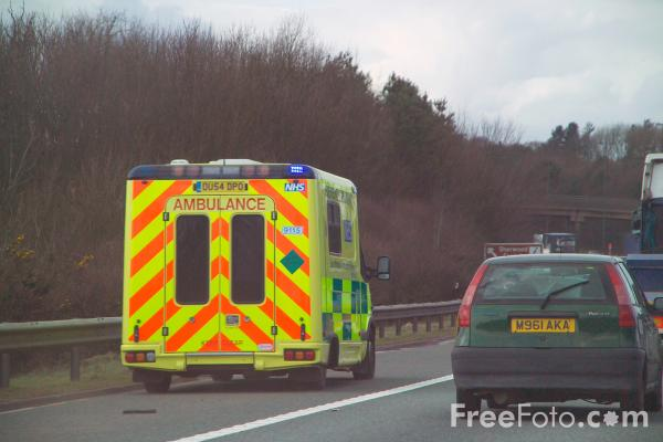 Picture of NHS Ambulance - Free Pictures - FreeFoto.com