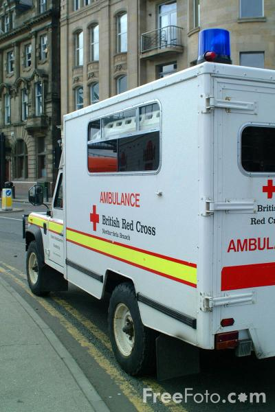 Picture of British Red Cross Ambulance - Free Pictures - FreeFoto.com