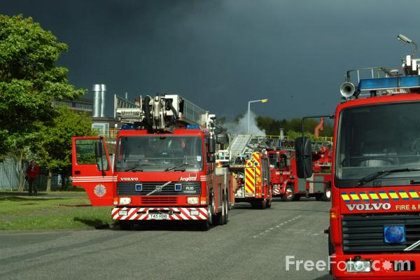 Picture of Northumberland Fire & Rescue Service Fire Engines - Free Pictures - FreeFoto.com