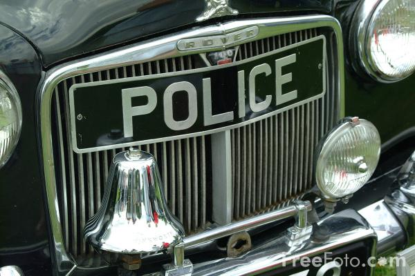 Picture of 1960's Vintage Police Car - Free Pictures - FreeFoto.com