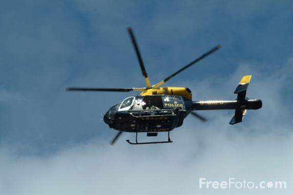 Picture of Greater Manchester Police Air Support Unit Helicopter G-GMPS MD900 Explorer - Free Pictures - FreeFoto.com