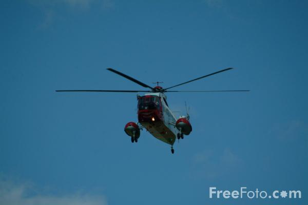 Picture of HM Coastguard Sikorsky S-61N helicopter - Free Pictures - FreeFoto.com